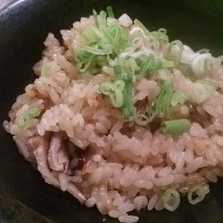干し椎茸の炊き込みご飯