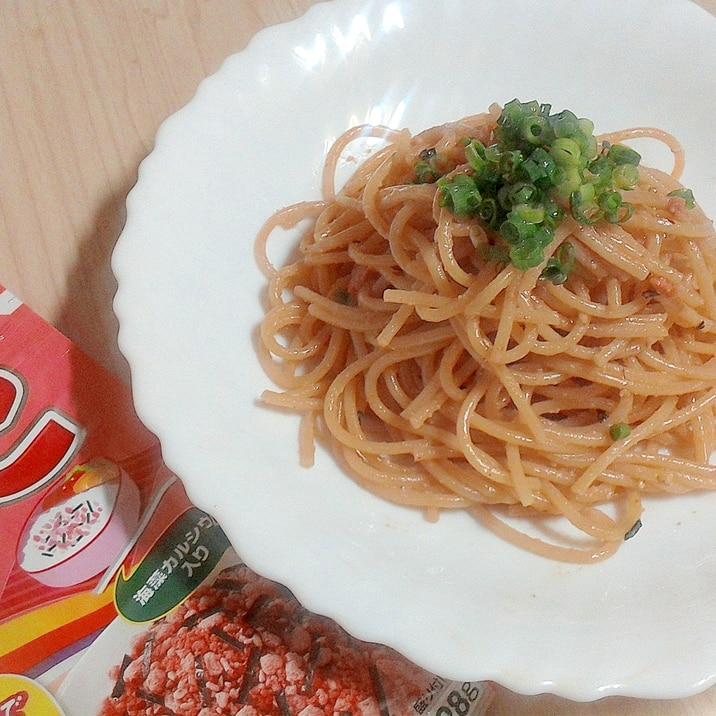 ふりかけで作る簡単タラコスパゲティ