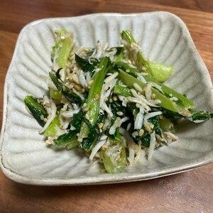 小松菜としらすの白だし炒め~骨美人♪