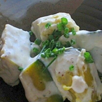 若いカボチャでデリ風カボチャサラダ