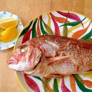 オーブンで鯛の塩焼き Baked SeaBream