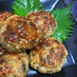大葉香る♪簡単ふわふわ豆腐鶏つくね☆