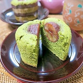 米粉 de 栗と抹茶のマフィン(グルテンフリー)