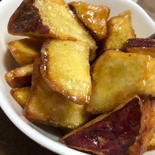 片栗粉を混ぜてカリッと美味しい大学芋
