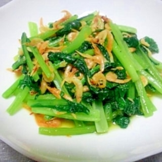 桜えびと小松菜の炒め物