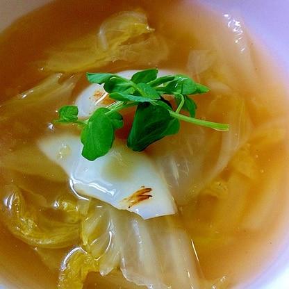 白菜と百合根のスープ