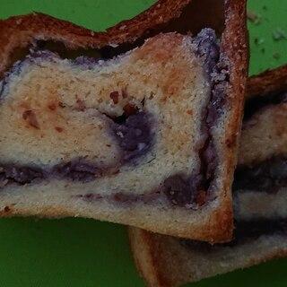 あんこ食パンでこんがりシュガートースト