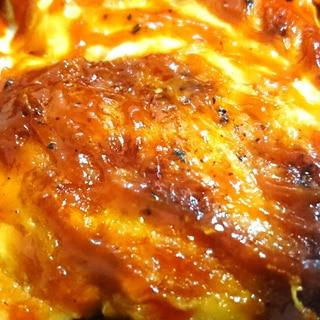 油なしヘルシー第2段☆鶏むね肉でチキンチャップ
