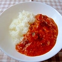 20cmフライパンで サバ缶とトマトのカレー