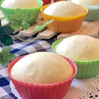 しっとり♡米粉とおからの卵蒸しパン
