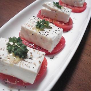 豆腐とトマトのカプレーゼ