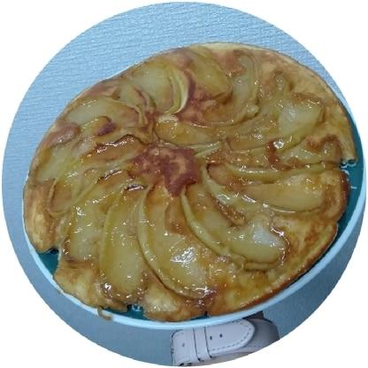 林檎2個で贅沢に作りました! かんたんでびっくりです。