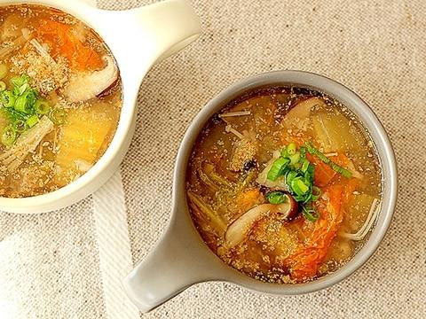 体に優しい♪きのこのデトックススープ