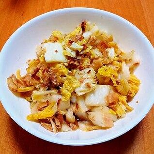 湯葉と白菜の蒸し煮