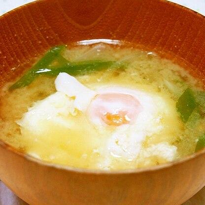 贅沢♪卵1個落としの味噌汁♪
