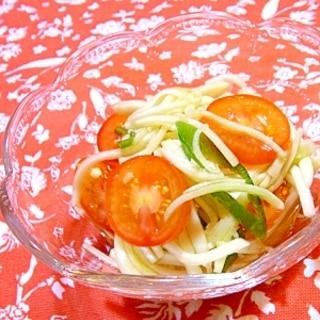 はぐら瓜でソムタム風サラダ