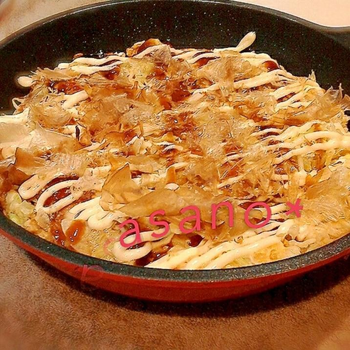 糖質ゼロ麺&おからパウダーで♪ヘルシーお好み焼き★