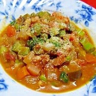 ベーコンと野菜のトマト煮込み