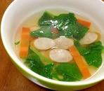大豆とウインナーと野菜のスープ