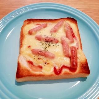 簡単♪ウインナーのピザパン