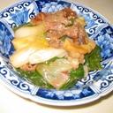 葉玉ねぎのすき焼き風煮