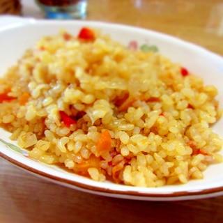 炊飯器で作る玄米ピラフ