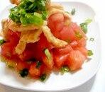 パリパリ油揚げとトマトのサラダ