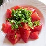 簡単~トマトと大葉のポン酢和え