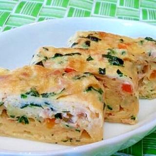 【離乳食】ツナ&小松菜の玉子焼き