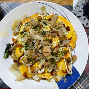 トロトロ卵の「オム焼きそば」