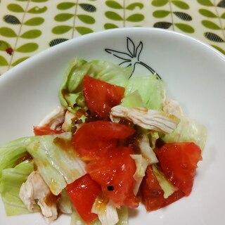 チキン・レタス・トマトのサラダ