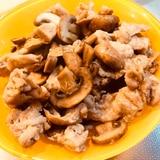 豚肉とマッシュルームのガーリック炒め