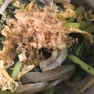 小松菜とこんにゃくの煮物