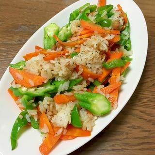 簡単で栄養満点!彩り野菜の納豆チャーハン