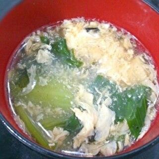 チンゲンサイの中華風スープ