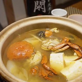 冬の味覚、つがにの味噌鍋
