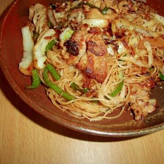 厚揚げ豆腐のピリ辛マヨビーフン