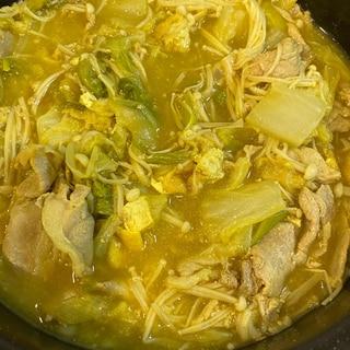 スパイスで作る豚肉のカレー鍋