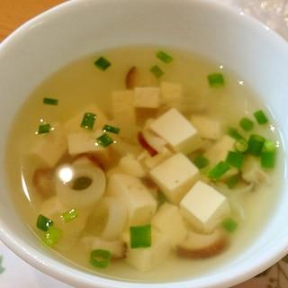 和風パスタに合う◎豆腐とネギのお吸い物