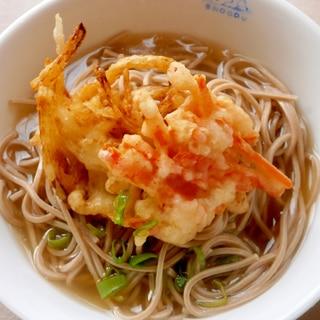 人参・玉ねぎの☆天ぷら蕎麦