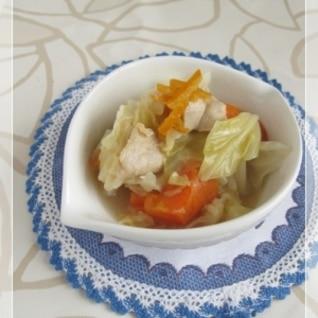 キャベツと鶏肉の塩麹ママレード煮