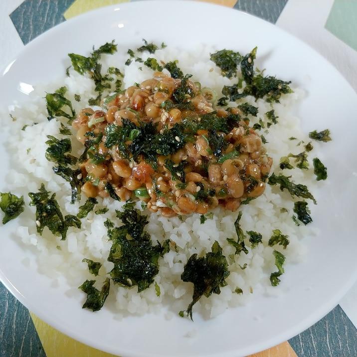 糖質カット!カリフラワーライスの納豆ご飯!