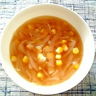 ☆コーンオニオン冷製コンソメスープ☆