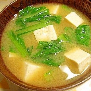 豆腐と小松菜の味噌汁