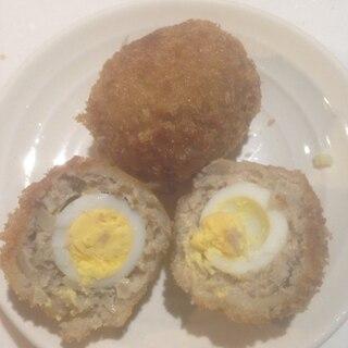 うずらの卵のスコッチエッグフライ