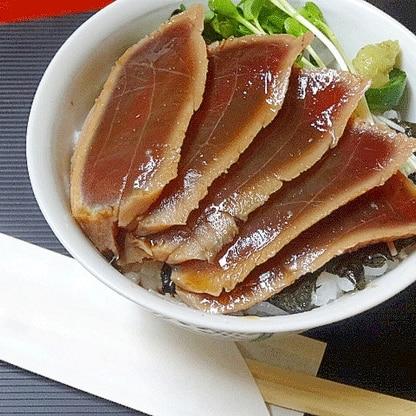 寿司屋のまかない飯♪ 「しゃぶ鉄火丼」