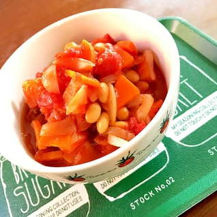トマトの食べるスープ☆大豆入り