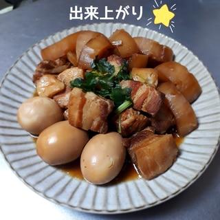 (staub)放置のがっつりお肉シリーズ①豚角煮。