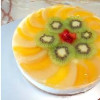 レンジのみ!夏用のヨーグルトムースケーキです!