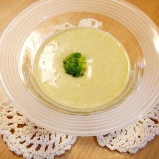 ブロッコリーとジャガイモの冷製スープ